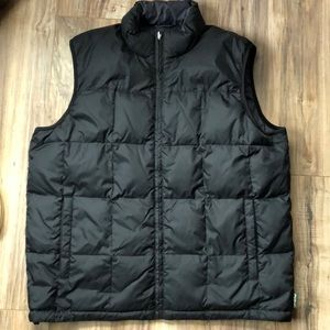 Eddie Bauer Black Down Quilted Puffer Vest L